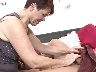 Old mature granny fucking Old granny fucking her young toy boy
