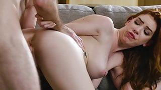 Busty Redhead Nala Brooks Fucked Hard & Cummed on Belly!