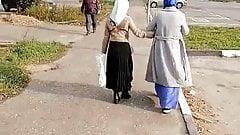 Following two hijab Ladies