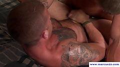 Cocksucking straight hunk fucks inked bottom
