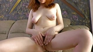 Lovely girl with a gorgeous hairy pussy