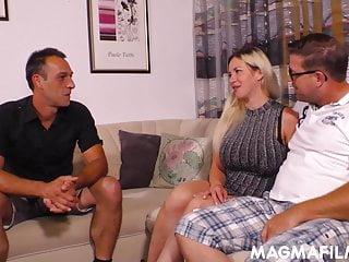 Mens lingerie breakaway Fake tits german slut fucked by two horny men