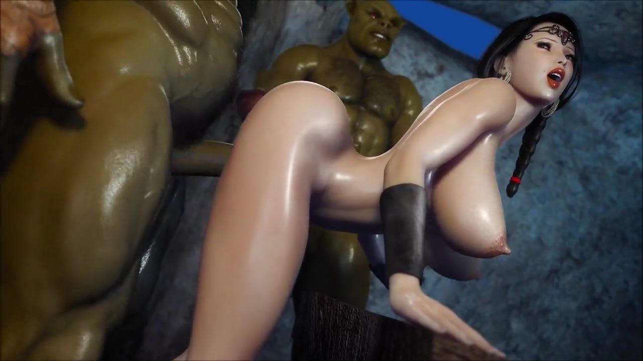 Tentacle monster girl force guy