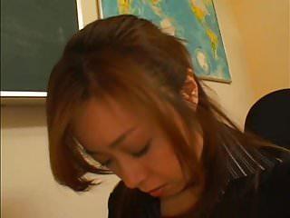 Japanese lesbian teen Asian schoolgirl cutie owns teacher
