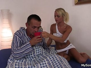 Older woman lesbian seduces girl - Older man seduces younger blonde woman