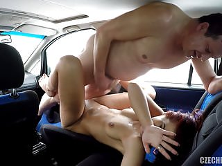 Real Czech Prostitute Takes Money for CAR SEX