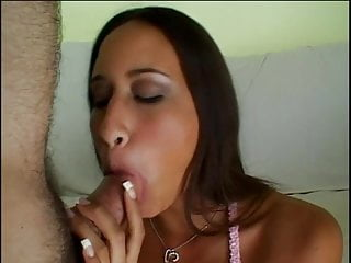 Brown haired women with large tits - Exotic brown haired girl sucks dick before getting pussy full of cock