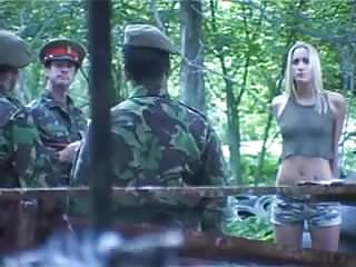 Military chicks hardcore porn naked British army slag gets missiled