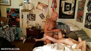 Fucked stepdaughter finally, and well