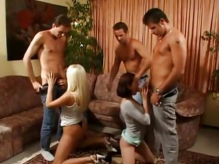 Donnie russo gets gangbanged Sandra russo and marie-annes four cock gangbang