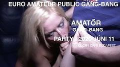 Public amateur gangbang 2020