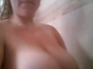 Huge milf natural - Huge milf tits in shower