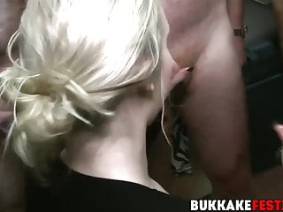 Young hung dudes jerking cum clips Busty chicks and hung dudes have interracial bukkake party