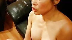 Chinese American Mom Taking Huge Cumshot From Big White Dick
