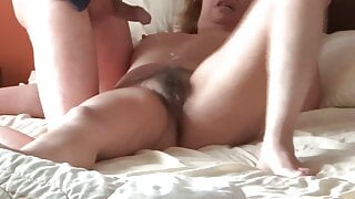 My wife loves receiving cumshots all over her body