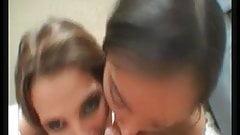 latina and chinese enjoys a facial
