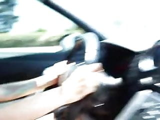 Free online driving in car porn Girl masturbating while driving a car