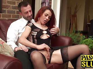Old redhead sex video - Old tasty bitch has rough fuck session with a freaky guy