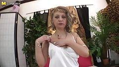 Hot mature mother pleasing herself and beyond