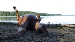 Mature couple fucking at the lake 2
