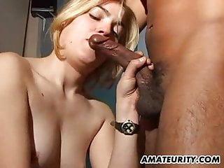 Girlfriend interracial Amateur girlfriend interracial fuck with cum in mouth