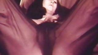 Lonesome Naked Brunette's Satisfaction in Bed (Vintage)