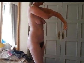 Hairy nipples milfs Hairy milf rubs lotion on her big ass and saggy tits