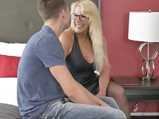 Mom deep throated my big cock She is my best friends mom