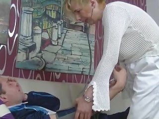 Nurse patient porn - German granny nurse fucks her patient