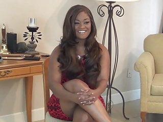 Ebony spanked in stockings Ebony spanked