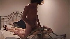 Homemade Swinger Cuckold Wife Fucked in Handcuffs