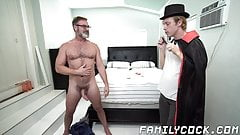 Stepdad enjoys forbidden raw ass impaling with his stepson