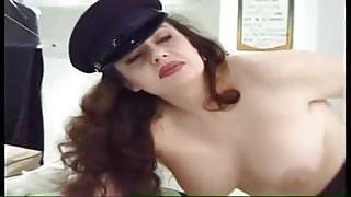 Hairy Italian anal during work