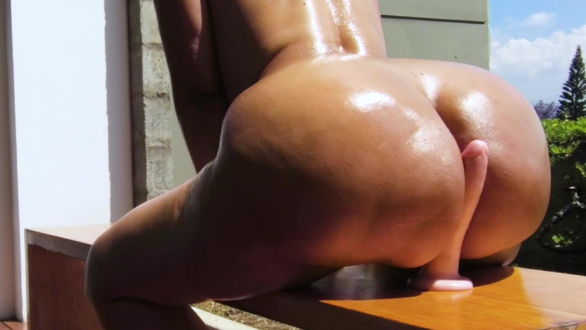 Big Ass Blonde Riding Dildo