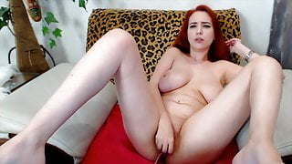 Sexy Redhead With Big Natural Boobs On Webcam