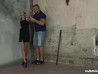 Struggling in bondage - Struggling skinny babe sarah key gets vibed hard while tied