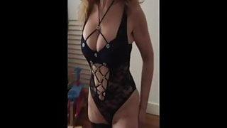my cream on her tits