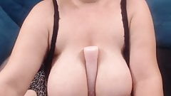 BBW Mature with big tits and ass does anal with dildo