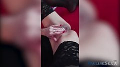 Teen in Stockings Plays With Pussy While Mom Is Away