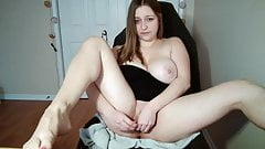 The girl shows her tasty figure to the camera