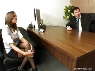 Mom fucks her boss - Hot secretary fucks her boss in the office