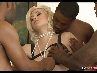 Ass black sex tons Great blonde whore gets blacked out by ton of cock