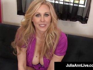 Julia ann cum shots - Beautiful cougar julia ann blows cock spits cum on feet