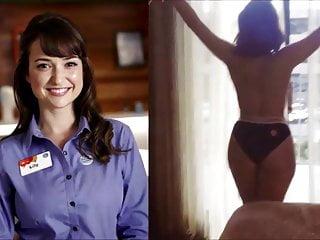 Miranda cosgrove boob slip chicks episode Milana vayntrub boob slip
