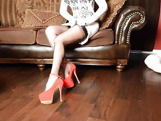Heel leg mature - Samantha legs legs in secrets in lace stockings and heels