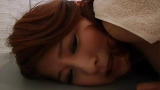 Japanese girl getting the farts massaged out of her