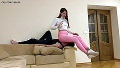 Mistress Sofi in Leggings - Ass Smothering Femdom