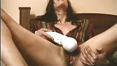 Enormous Hitachi vibrator is favorite sex toy of my wife