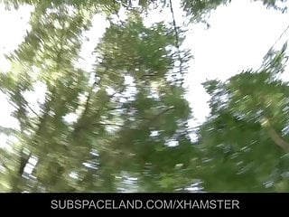 Amateur allure lora video Nightmare spanking in the woods for lora