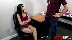 Hot latina teen fucks airport security guard